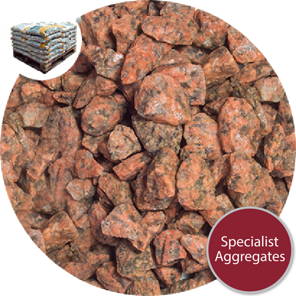 Granite Chippings - Grampian Pink