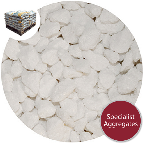 Marble Chippings - White