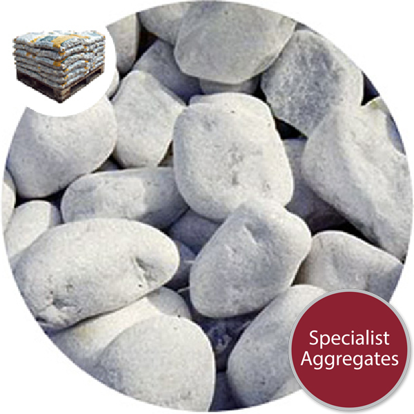 Marble Cobbles - White - 40-75mm