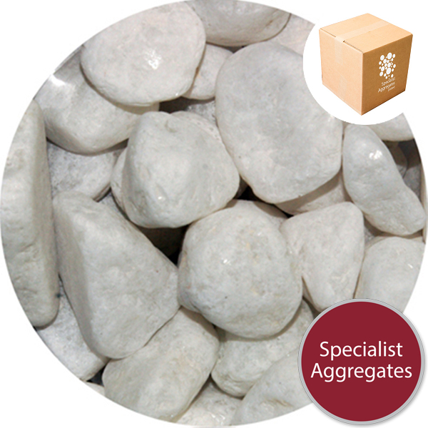 Marble Pebbles - White - 20-30mm