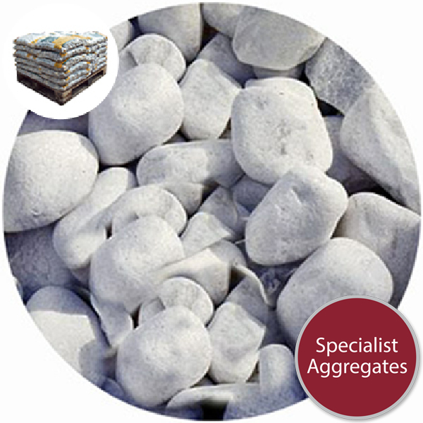 Marble Pebbles - White - 20-40mm - 4702