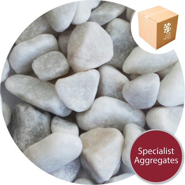 Marble Pebbles - White - 8-12mm