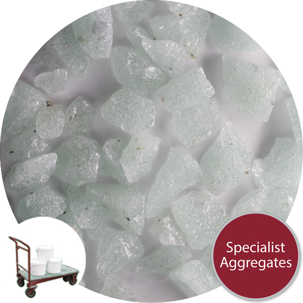 Recycled Enviro-Glass - Ice White Gravel - Click & Collect