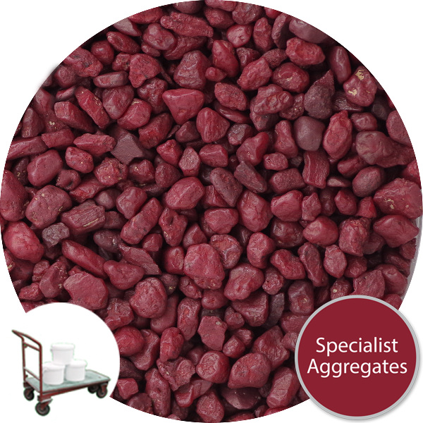 Rounded Gravel - Burgundy - Click & Collect