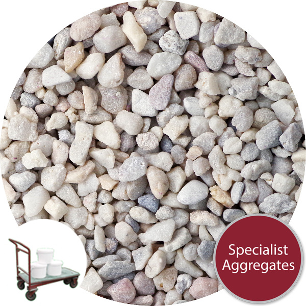 Rounded Gravel - Floral White - Collect