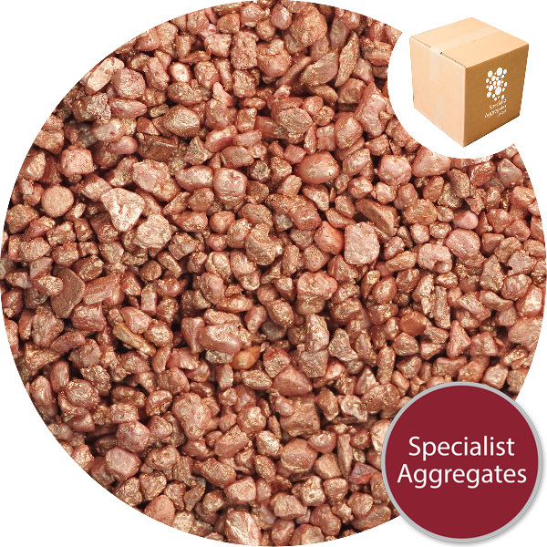 Rounded Gravel Nuggets - Copper Coloured