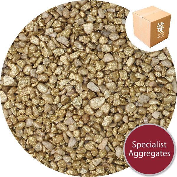 Rounded Gravel Nuggets - Gold Coloured