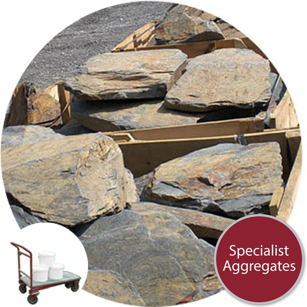Decorative Rustic Welsh Slate Chippings For Gardens and Landscapes 20-40mm Clean