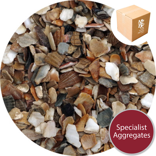 Sea shells crushed oyster clam from specialist for Crushed oyster shells for landscaping
