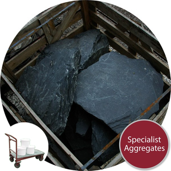 Slate Rocks - 7 Medium - Click & Collect