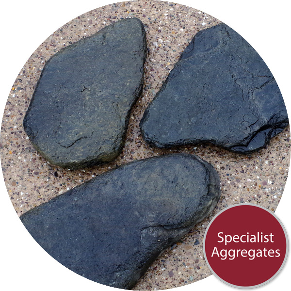 Slate Stepping Stones - Large Black