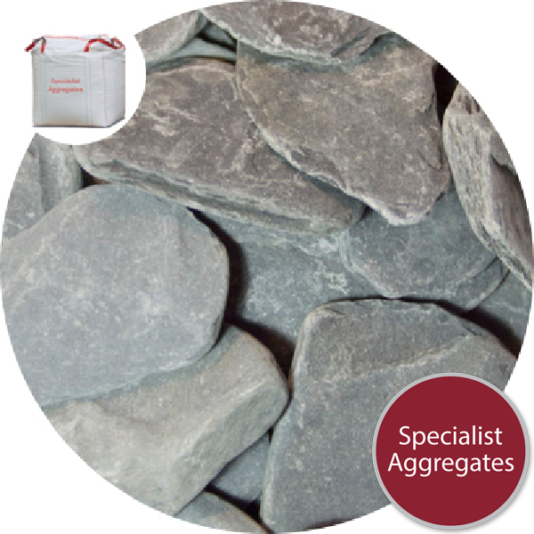 Tumbled Slate Paddlestones - Black - Large