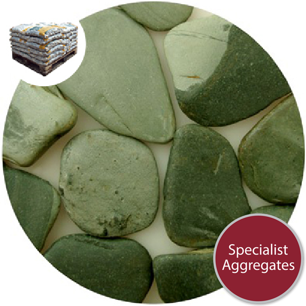Tumbled Slate Paddlestones - Green - Small