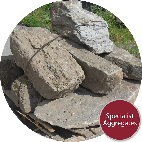 Yorkstone Rocks - 7 Large Angular