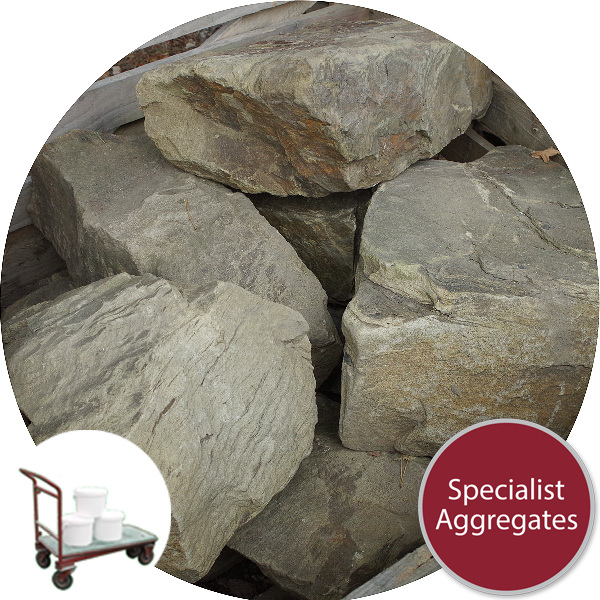 Yorkstone Rocks - 7 Large Angular - Click & Collect