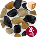 Chinese Pebbles - Polished Black and Tan - 2688