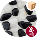 Chinese Pebbles - Polished Black and White - 2689