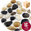 Chinese Pebbles - Polished Mixed Colour - Small