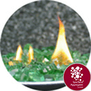 Fire Pit Glass - Reflective Green