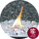 Fire Pit Glass - Silver - 7570