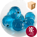 Glass Marbles - Light Blue with White Flowers