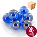 Glass Marbles - Lustered Blue - Medium