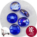 Glass Nuggets - Lustered Dark Blue - Click & Collect