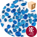 Glass Pea Gravel - Aqua Blue - Design Pack