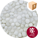 Glass Pea Gravel - Opaque White