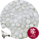 Glass Pea Gravel - Opaque White - Click & Collect - 9125