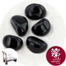 Glass Stones - Jet Black - Click & Collect