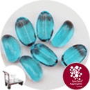 Glass Stones - Turquoise Blue - Click & Collect