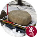 Granite Feature Boulder - Rounded Seating / Stepping Stone