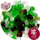 Recycled Glass - Mixed Green - Small