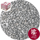 Rounded Gravel Nuggets - Silver Coloured