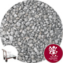 Rounded Gravel Nuggets - Silver Coloured - Click & Collect