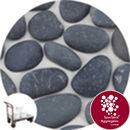 Shoreline River Pebbles - Dark Grey Granite - Click & Collect