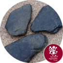 Slate Stepping Stones - Large Black - 5404