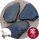 Slate Stepping Stones - Large Black - Click & Collect