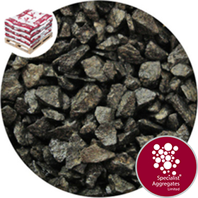 Buy Granite Chippings Volcanic Black Specialist Aggregates Ltd