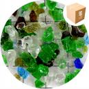 Recycled Glass - Green & White - Small